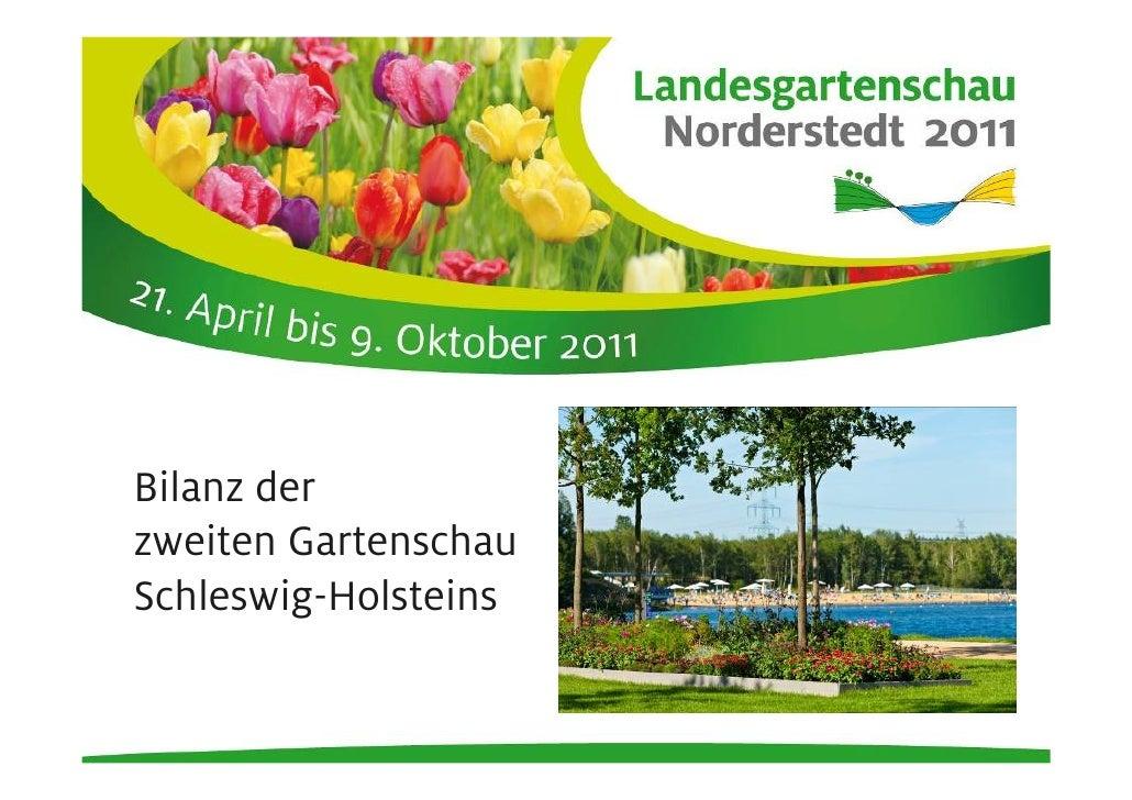 Bilanz derzweiten GartenschauSchleswig-Holsteins