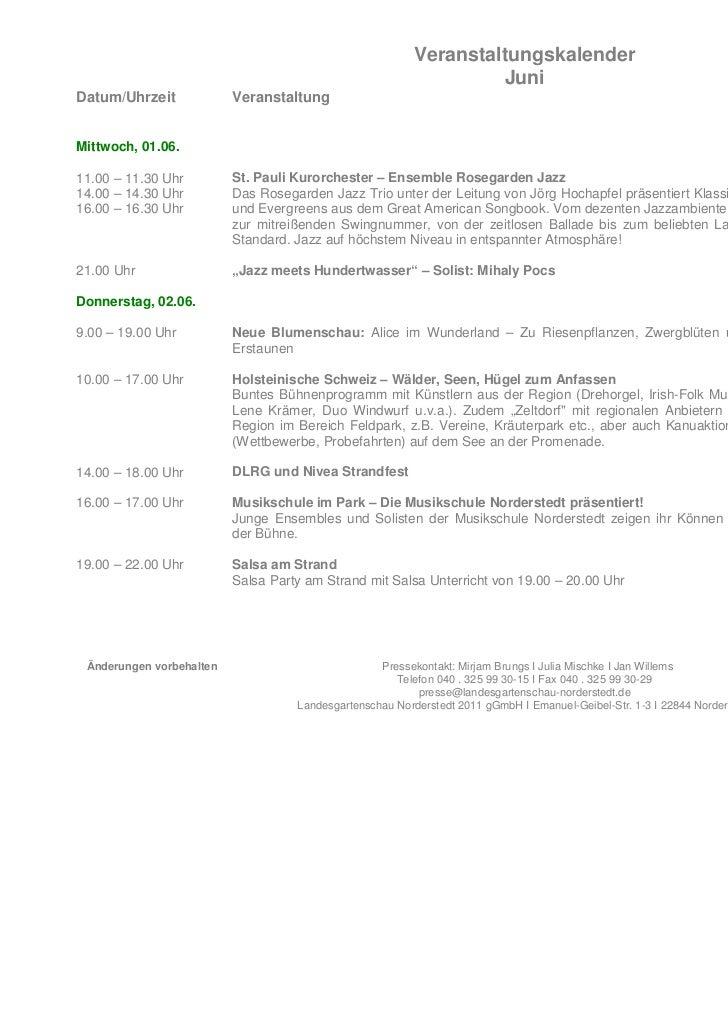 Veranstaltungskalender                                                                   JuniDatum/Uhrzeit             Ver...