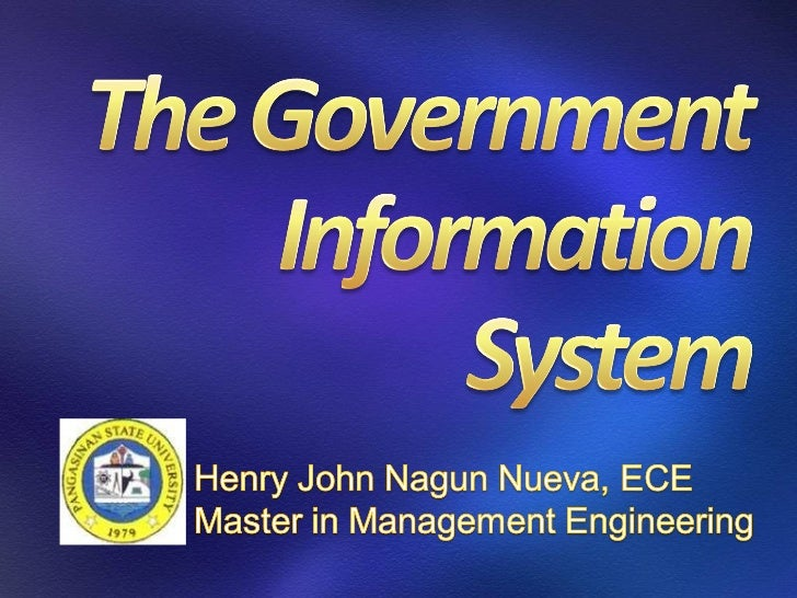 LGU Government Information System (GIS)