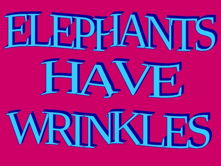 Lh2 a elephants have wrinkles