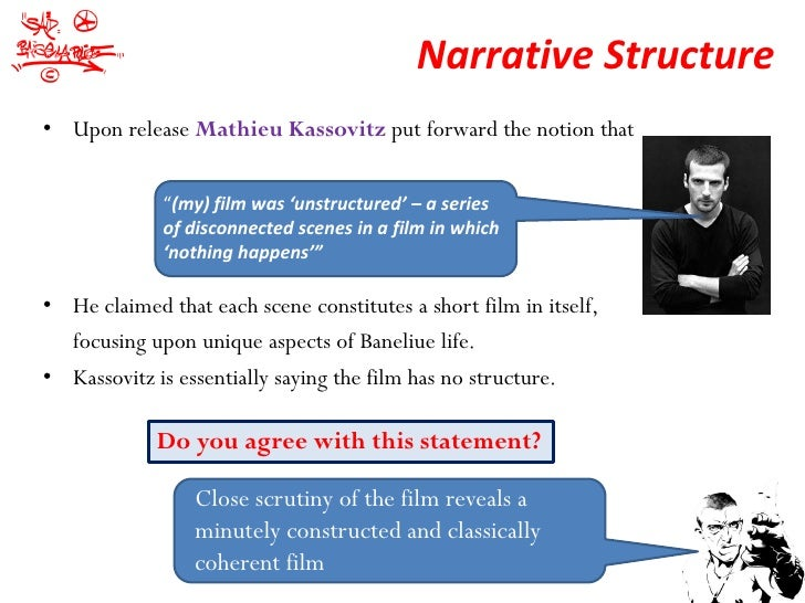 What do i put in a paragraph about the narrative of a film?