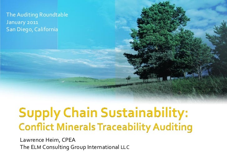 Conflict Minerals Traceability Auditing