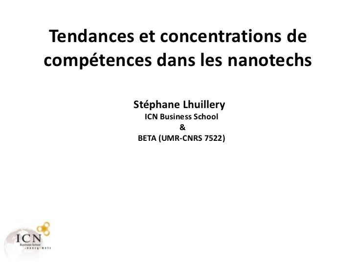 Tendances et concentrations de compétences dans les nanotechs en France