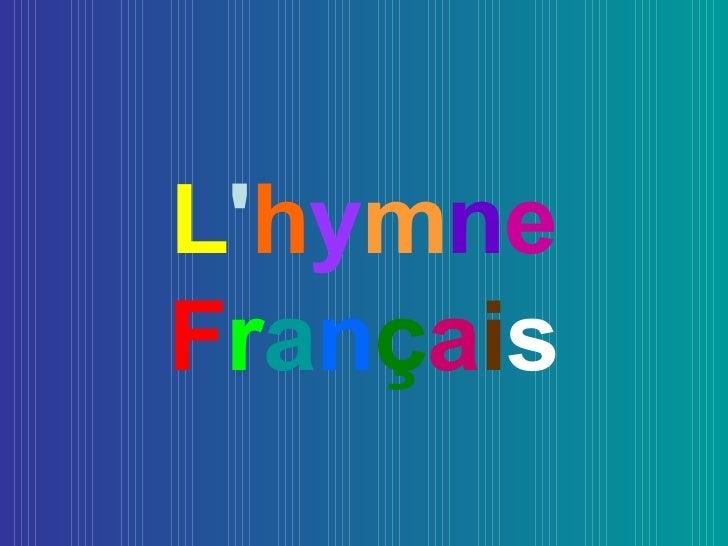 L'hymne français