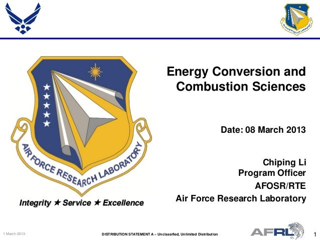 Li - Energy Conversion and Combustion Sciences - Spring Review 2013