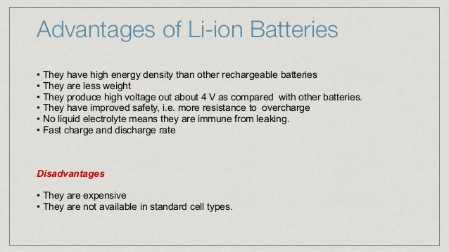 Lithium ion batteries an overview for Avantage batterie lithium ion