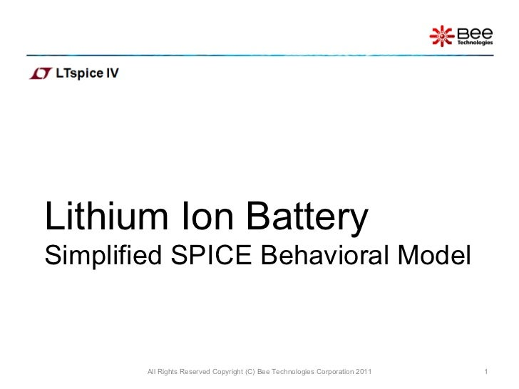 Simple mode of Li-ion battery (LTspice)