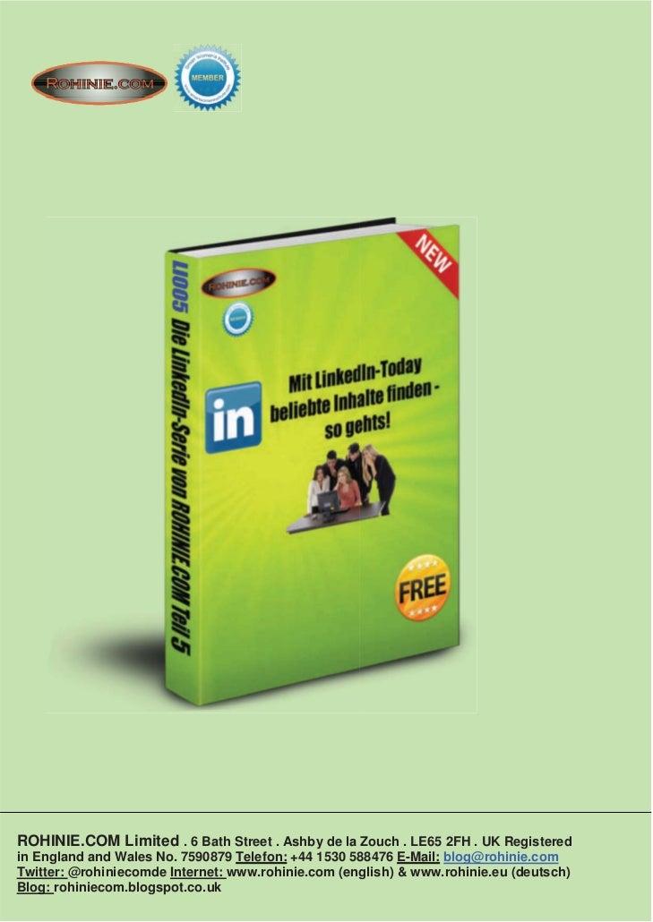 ROHINIE.COM:Mit LinkedIn Today beliebte Inhalte finden - so gehts!