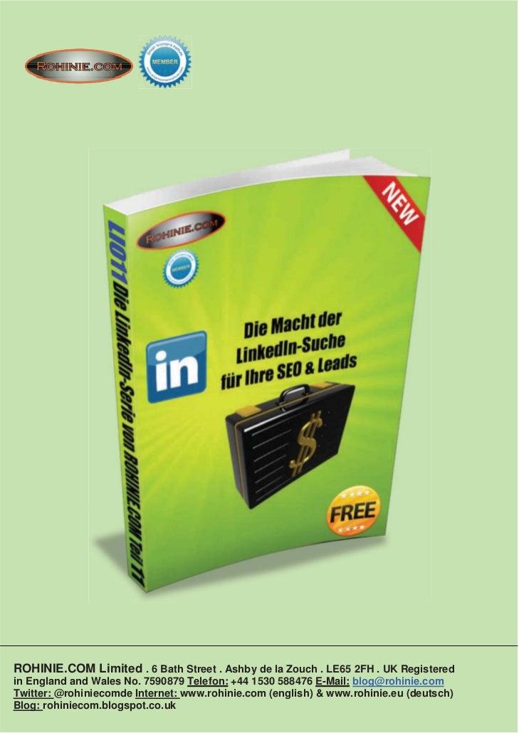 ROHINIE.COM: Die Macht der LinkedIn-Suche für Ihre SEO & Leads