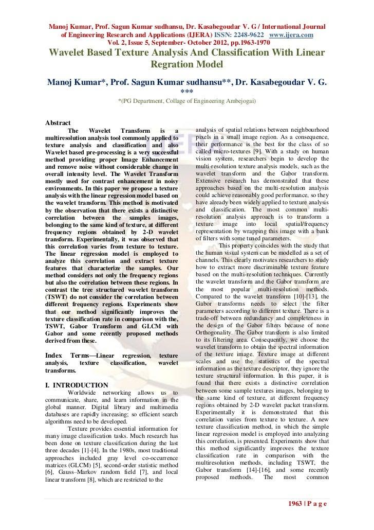 Manoj Kumar, Prof. Sagun Kumar sudhansu, Dr. Kasabegoudar V. G / International Journal    of Engineering Research and Appl...