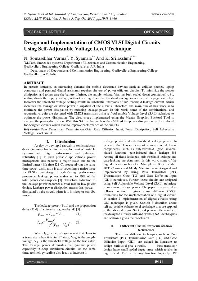 Y. Syamala et al Int. Journal of Engineering Research and Application ISSN : 2248-9622, Vol. 3, Issue 5, Sep-Oct 2013, pp....