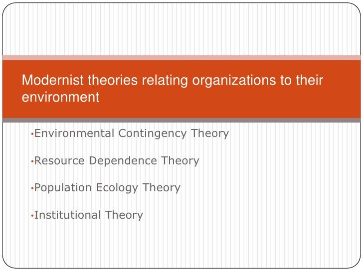 <ul><li>Environmental Contingency Theory