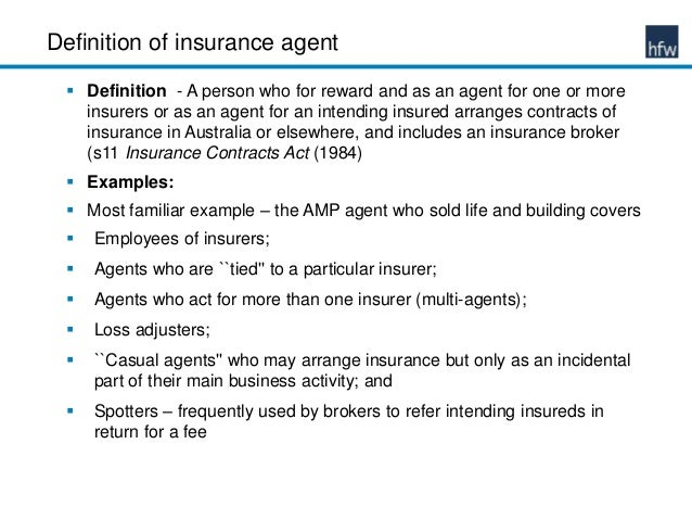 Liability of insurance agents to their clients
