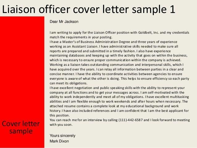 liaison officer cover letter sample 1 dear mr jackson cover