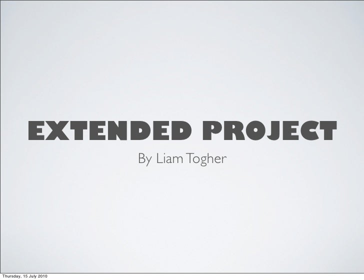 Liam extended project