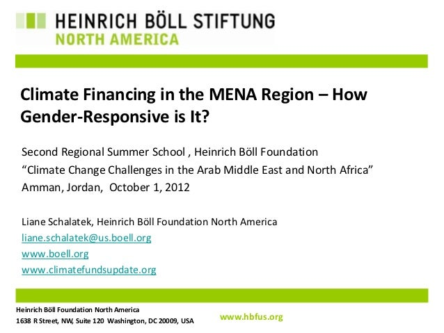 Climate Financing in the MENA Region – How Gender-Responsive is It? Second Regional Summer School , Heinrich Böll Foundati...