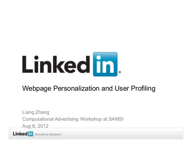 Webpage Personalization and User Profiling