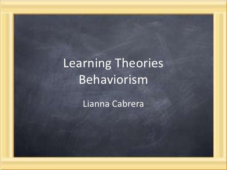 Lianna - Learning Theory