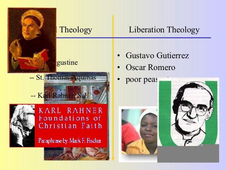 Traditional Theology   Liberation Theology <ul><li>Who </li></ul><ul><ul><li>St. Augustine </li></ul></ul><ul><li>Gustavo ...