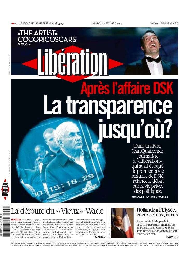 • 1,50 EURO. PREMIÈRE ÉDITION NO9579                                                                           MARDI 28 FÉ...