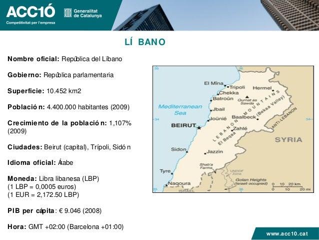LÍ BANONombre oficial: República del LíbanoGobierno: República parlamentariaSuperficie: 10.452 km2Població n: 4.400.000 ha...