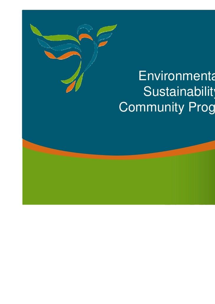 Environmental   SustainabilityCommunity Programs