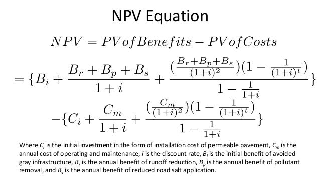 Cost Benefit Analysis Npv 112