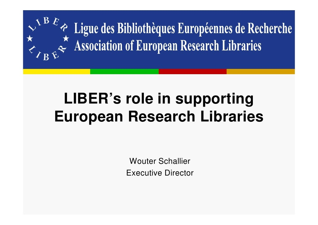 LIBER's role in supporting European research libraries