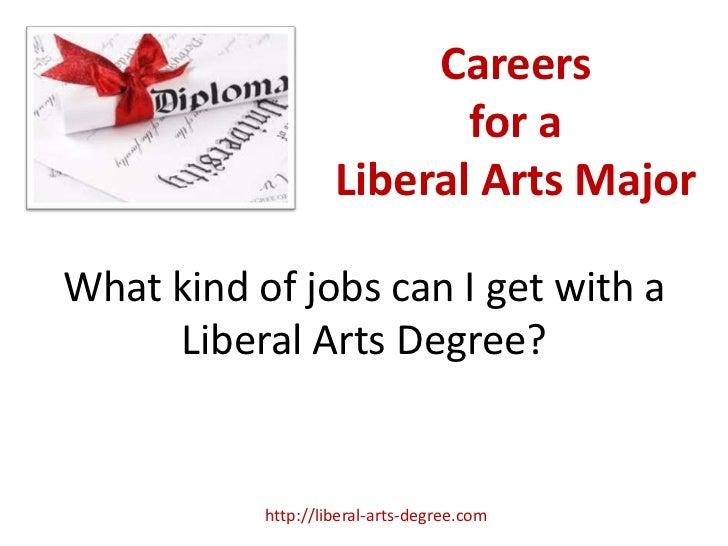 Liberal Arts Degree Careers