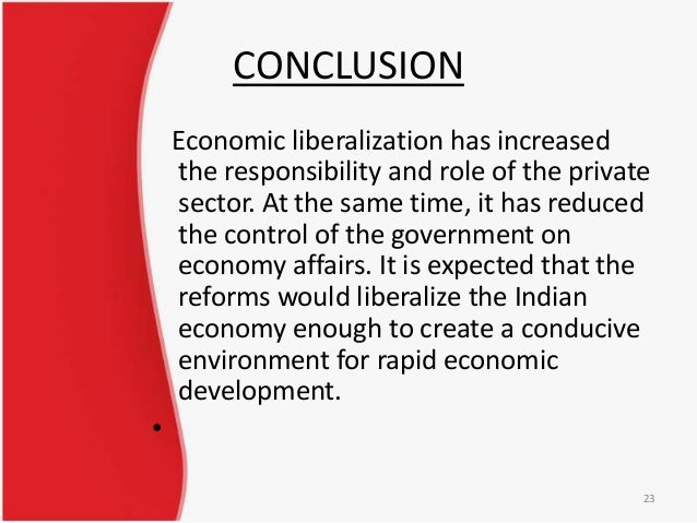Essay on the Economic Liberalisation in India