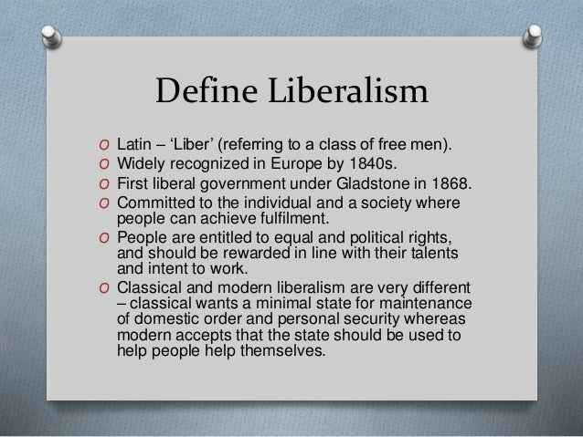 Modern Classroom Definition ~ Liberalism fragmentation of power