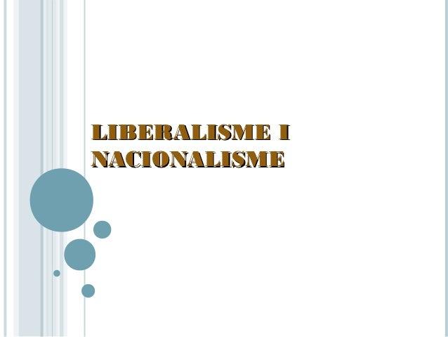 LIBERALISME INACIONALISME