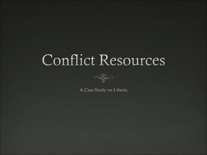 Conflict Resources - Liberia