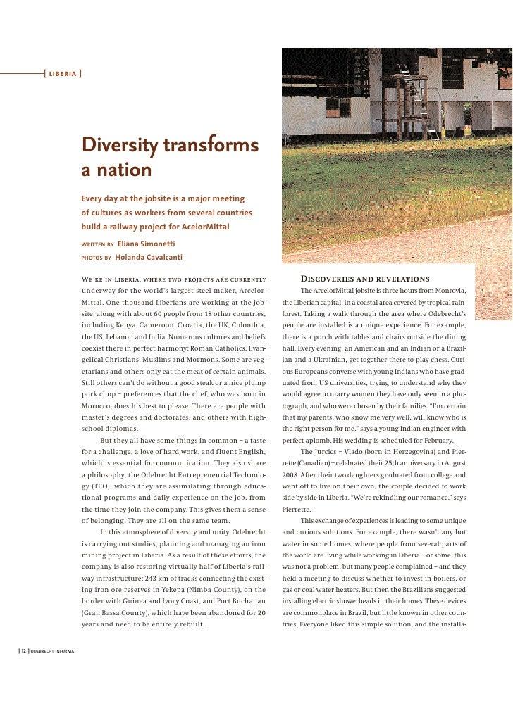 [ liberia ]                                Diversity transforms                            a nation                       ...