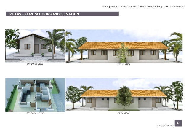 Porposal for low cost housing in liberia for Liberia house plans