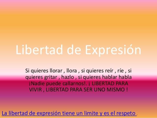 Libertad de expresión..