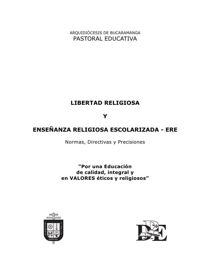 Libertad Religiosa Y EnseñAnza Religiosa Escolariizada