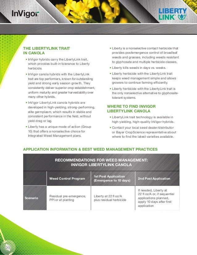 LibertyLink Liberty Integrated Pest Management_2013 Seed Trait Technology Manual Part 6