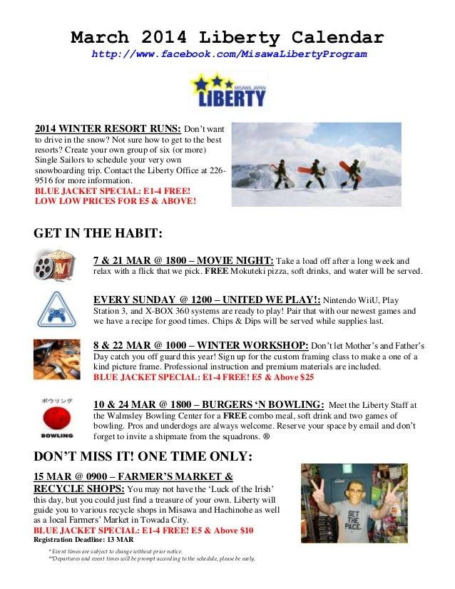 Liberty program calendar   mar 2014