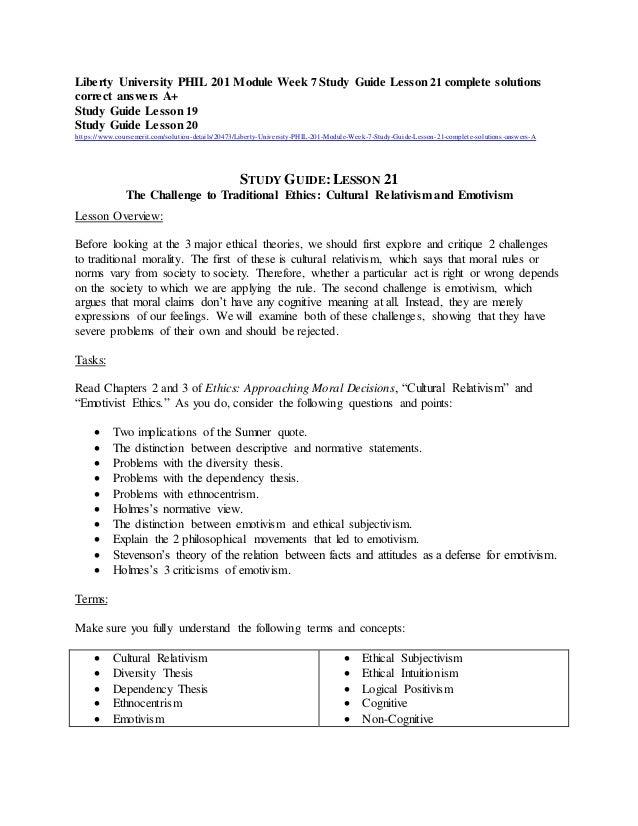 phil201 study guide lesson 10