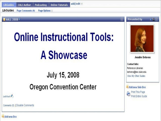LibGuides - AALL 2008