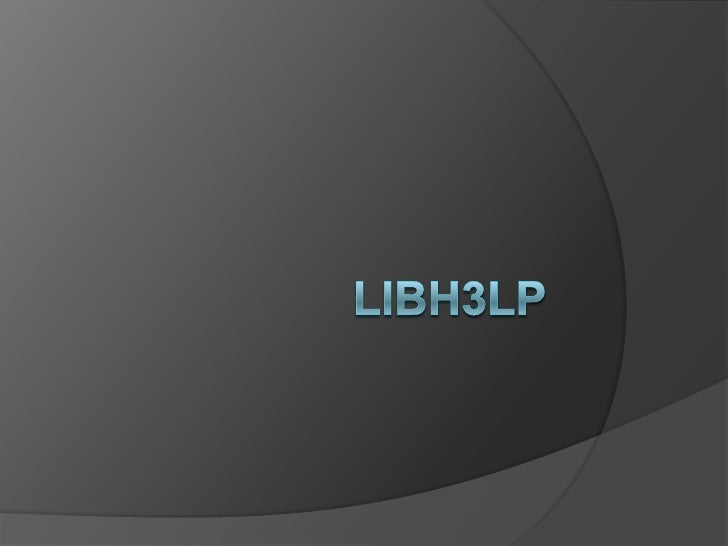 Lib h3lp pidgin info session for staff