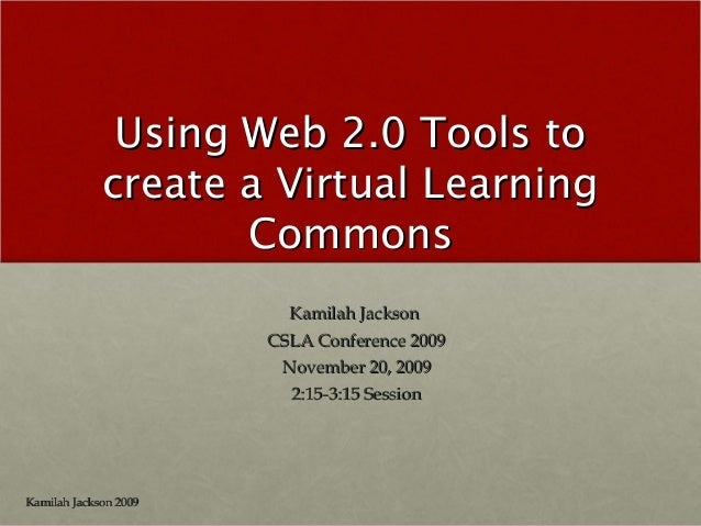 Using Web 2.0 Tools to create a Virtual Learning Commons