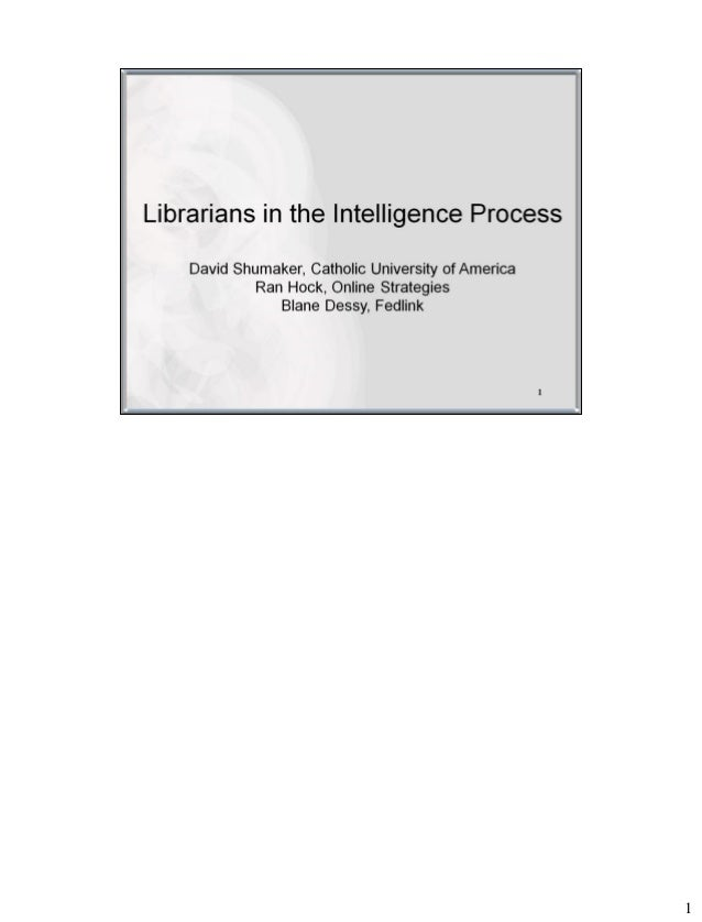 Librarians in the Intelligence Process