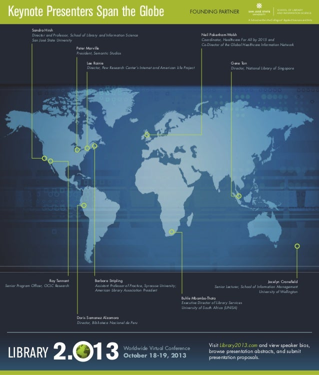 Library 2.013 Worldwide Virtual Conference Keynote Presenters [INFOGRAPHIC]