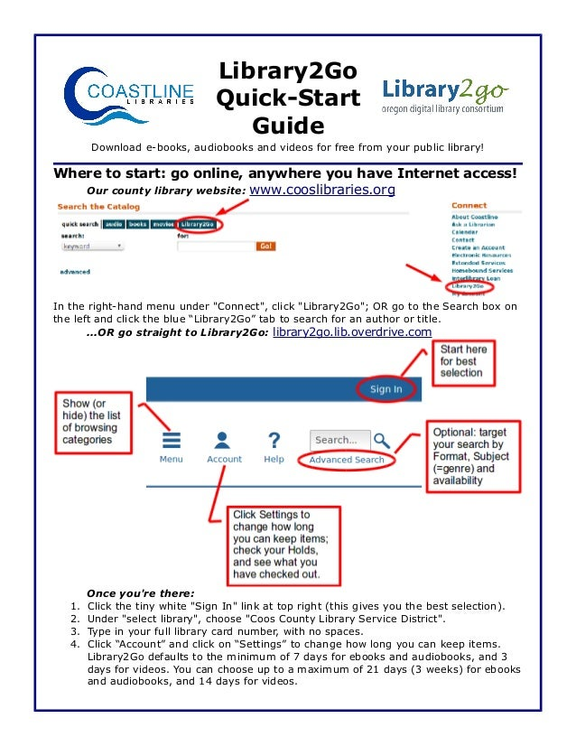 Library2Go Quick Start Guide