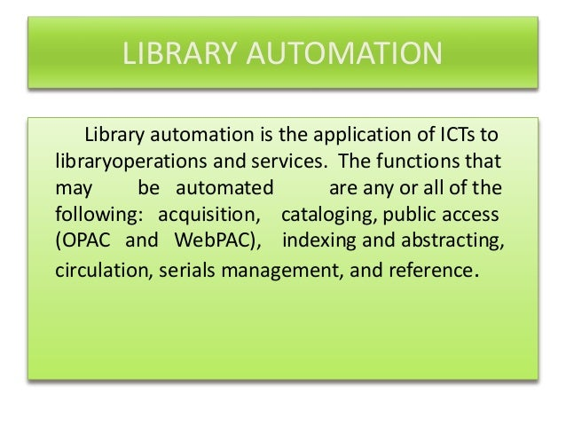 library automation essay Gang violence in schools essays on abortion research paper feetures socks history of library automation essay essays on education research paper martin luther king jr glasgow ima student research paper apa to kill a mockingbird essays pdf library statement essay push and.