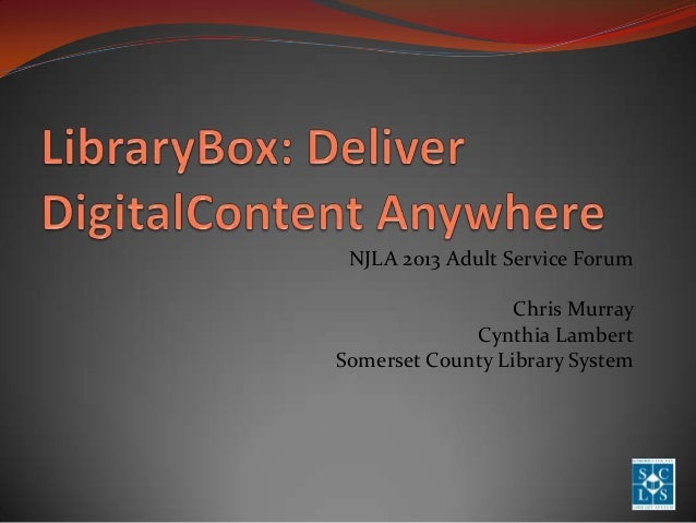 LibraryBox - An Introduction