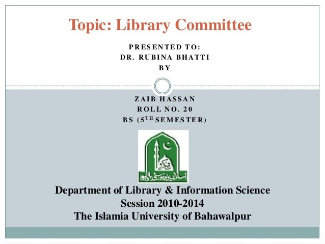Library committee
