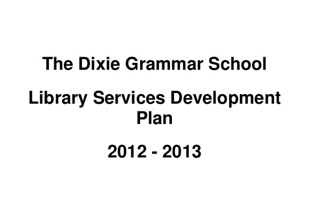 Library Development Plan 2012-2013